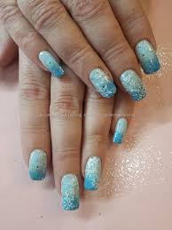 Eye Candy Nails & Training - Blue gel fade with glitter and ...