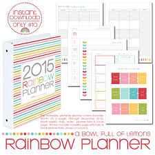 Weekly Calendars To Print 2015 Rainbow Planner Core Kit Dates Only Thru 2015 50 Off A