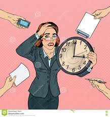 home office multitasking. Stressed Pop Art Business Woman With Big Clock At Deadline Multi Tasking Office Work. Multitasking, Caucasian. Home Multitasking