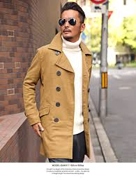 p coat pea coat men long trench coat double long coat melton wool outer