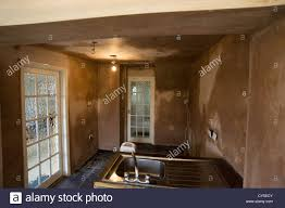 Kitchen Refurbishment Kitchen Refurbishment After Plastering Stock Photo Royalty Free