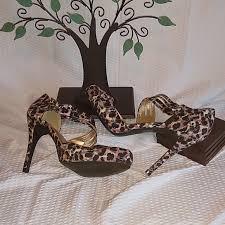 Euc Rue21 Etc Pink Black Leopard Print Heels