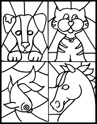 Stained Glass Coloring Pages Free In Plan 6 Chacalavong Info