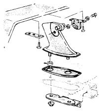 Scott drake spoiler pedestal rear pair 1969 1970