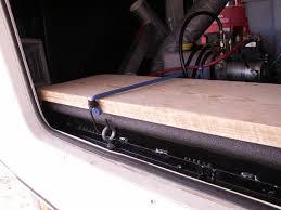 wooden battery box cover for custom 5th wheel battery box