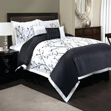 hand embroidered six piece bedding set 1 comforter 2 standard shams decorative pillows construction material black palm tree print duvet covers