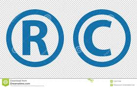 Registered Symbol Registered Trademark And Copyright Icons Vector