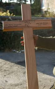 Beautiful wooden memorial crosses from the Sign Maker.