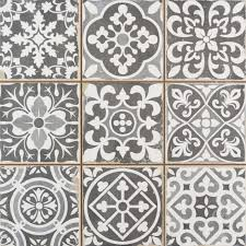 Patterned Enchanting Faenza Rustic Grey Patterned Matt Tile Tiles From Tile Mountain