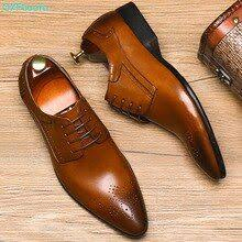 <b>QYFCIOUFU</b> Brand Pointed Toe <b>Men's</b> Oxfords Formal <b>Shoes</b> Black