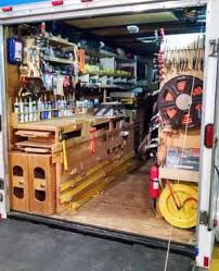 homemade miter saw stand. the top and extensions for miter saw stand store in a dedicated space below trailer\u0027s work bench. homemade