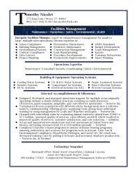 Facility Manager Resume Professional Resume Samples By Julie Walraven CMRW Executive 4