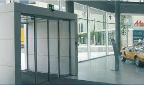 china high power motor auto sliding glass door commercial glass sensor door supplier