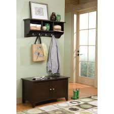 Cottage Coat Rack Alaterra Shaker Cottage Storage Bench And Coat Rack Set Hayneedle 42