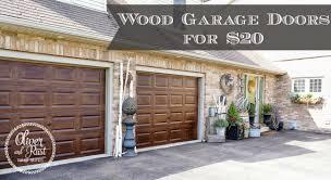 wood garage doors for