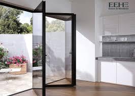 weatherstripping grey aluminium folding doors for patio exterior 2 0mm thickness