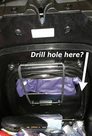 drill a hole in maintenance lid for battery tender sae wire