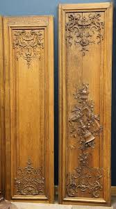 continental carved oak boiseries lot