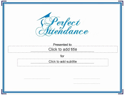 Printable Perfect Attendance Certificate Lovely 13 Free