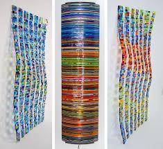 magnificent ideas slumped glass wall art wave pattern shape line decoration wallmount tempered renoto foti collection