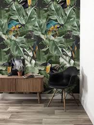 Behang Botanical Birds Zwart 974 X 280 Cm Natuurlijk Kleurrijk