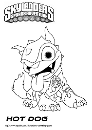 Small Picture Skylanders Printable Coloring Pages hot dog Pinterest