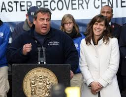 in new jersey claims elevate or s profile the new york times chris christie of new jersey and or dawn zimmer of hoboken in 2012 residents displaced by hurricane sandy credit tim larsen nj governor s office