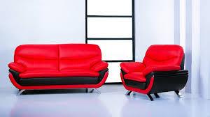 Living Room Sofa And Loveseat Sets Jonus Sofa And Loveseat Set Black Red Leather 150240
