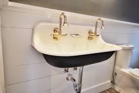 drain double faucet trough sink