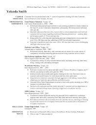 Sample Resume Objectives Call Center Representative Resume