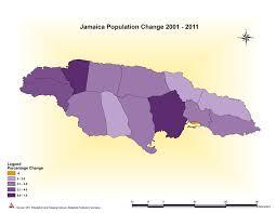 Jamaica Population Chart Maps