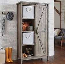 image is loading small kitchen cabinet bookcase rustic farmhouse barn door