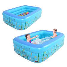 Play Swimming Pool Designs Amazon Com Funarrow Inflatable Kiddie Printing Rectangle