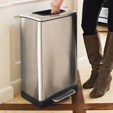 stainless steel kitchen trash can. Trash Krusher - Can With Built-In Manual Compactor Stainless Steel Kitchen R