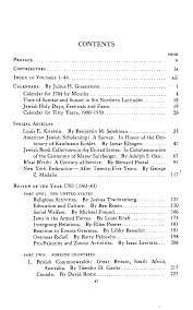 Table of Contents (1943-1944)