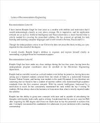 Examples Of Recommendation Letter