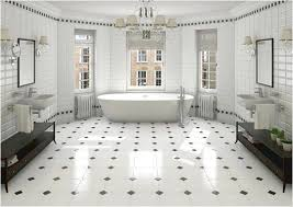 modern large bathroom with elegant ceramic wall and black and white bathroom floor tile black and white tiles bathroom ideas
