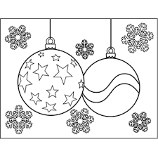 Small Picture Christmas Ornaments with Stars Coloring Page