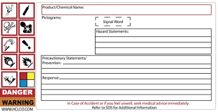 Ghs Write In Label With Removable Pictograms Hcl Labels Inc