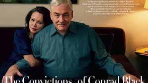 the cover couple on october s vanity fair is canadian born former media baron conrad black and his wife barbara amiel black dishes on his life in prison
