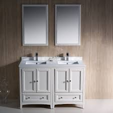 Fresca Bath Fvn20 2424aw Oxford Double Vanity Sink 48 Antique 48 Inch Bathroom Vanity With Sink