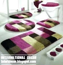 bathroom rugs set long rug sets also with a round canada bath 4 piece bathroom rugs set