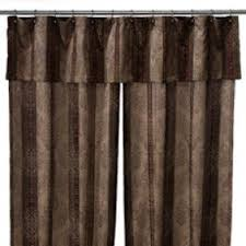 coral and brown shower curtain. townhouse double swag shower curtain set by croscill coral and brown