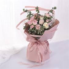 How To Wrap Flower Bouquet In Paper Clear Korean Flower Wrapping Paper Roll Transparent Florist Bouquet Packing Supplies Floral Shop Pac