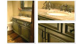 Kitchen Cabinets In Bathroom Olive Green Distressed Kitchen Cabinets Quicuacom