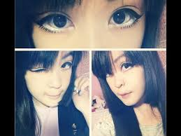makeup anime eyes stencil how to get big anime eyes without circle lens or falsies you