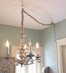 how to hang a chandelier in a room without wiring for an overhead refer to