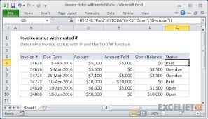 Create An Invoice In Excel Cool Excel Formula Invoice Status With Nested If Exceljet