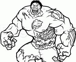 Check out the top 20 such fantastic hulk coloring sheets that depict his different moods and actions. Zombie Coloring Pages Hulk Coloring4free Coloring4free Com
