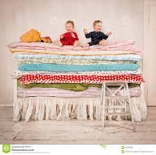 princess and the pea bed. Fine Princess Download Children On The Bed  Princess And Pea Stock Photo Image Of Pea